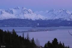 Overlooking the Homer Spit (Aleutian Fox) Tags: sunrise alaska homer mountians volcano ocean top20landscape landscape mountain