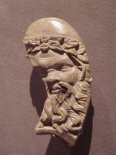 Carved ivory Silen Decoration from a Bed Greek 2nd century BCE