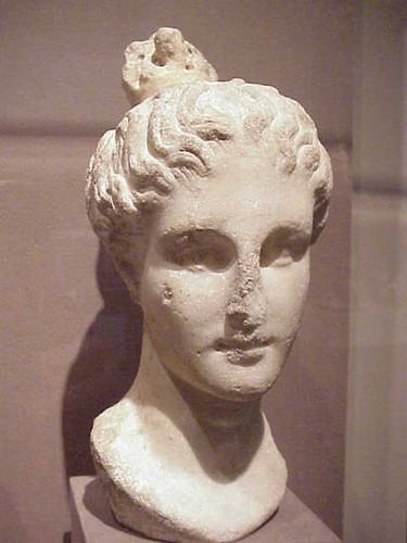 "Head of a Maiden with ""Lampadion"" Hairstyle Greek 3rd - 2nd century BCE"