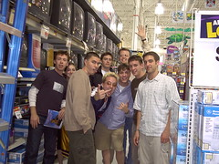 Zilo Group Shot in Wal-Mart (nickgraywfu) Tags: travel archive nickgray rickvanveen joshabramson chriswylde willthethrill walmart
