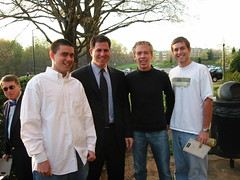 Ricky, Michael Dell, Nick and Brian (nickgraywfu) Tags: archive wfu rickvanveen michaeldell nickgray brianwhite