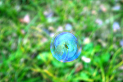 fleeting object #2 (**sirop) Tags: fleetingobject sphere blue green  soap bubble fantasy dreamily selfportrait