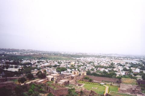 View from Golconda fort, Hyderabad.