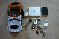 What's in my bag (mathowie) Tags: whatsinmybag packing geek gadgets whatsinyourbag crumpler sxsw