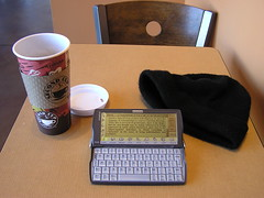 "My ""office"" (phool 4  XC) Tags: coffee geek pda secondcup electronicbrain psionrevo  phool4xc"