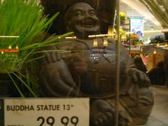laughing, imperfect buddha