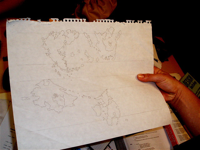 Original Ultima Online map (the game only shipped with the top-left corner), Sony Online Entertainment, San Diego