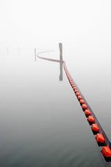 This Side That (Bhlubarber) Tags: ocean park orange mist reflection fog vancouver 1025fav marine quiet pacific 200views burrardinlet float stillness barnett davidniddrie