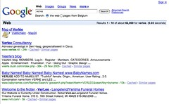 Search results and PageRank