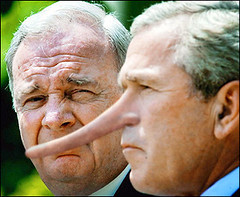 George W. Bush (CrackerTed) Tags: photoshop bush war dick president w antibush administration wmd dubya gop regime impeach misunderestimated