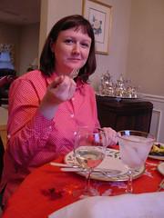 Marlee eating (dorngivens) Tags: dorn givens christmas 2005 augusta beverly marlee darin norma
