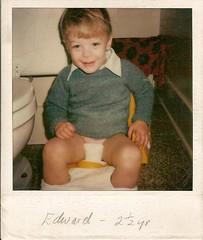Edward's House Training (edwardmesick) Tags: potty training edward polaroid