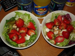 Salad and Orangina (Ezra S F) Tags: salad orangina