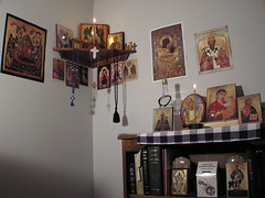 prayer corner (phool 4  XC) Tags: school icons dorm icon christian gifts seminary orthodox orthodoxchristian sttikhons بيتربروباخر phool4xcnetphotos phool4xc