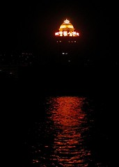 (GustavoG) Tags: shanghai china huangpu river night cruise gold golden dome red chinese ideograms water reflection 2000 twothousandphotos 10up3