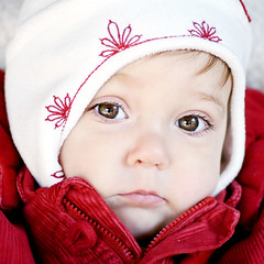 cold weather gemma (sesame ellis) Tags: red portrait white cold girl hat square toddler mykid jacket year2 bigbrowneyes ppg ppm weeklymostwonderful tc23red weeklywonderful