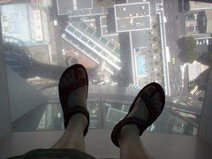 Don't look down! (413times2) Tags: newzealand auckland skytower glassfloor