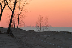Chicago from the Dunes (Malcolm Dwyer) Tags: sunset chicago skyline illinois dunes indiana lakemichigan canon10d michigancity top20flickrskylines