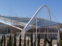 Calatrava Roof, Athens Olympic Stadium (RobW_) Tags: 2005 march stadium games athens greece olympic olympics athens2004 mar2005 oaka 11mar2005 maroussi