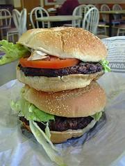 Double Angus Steak Burger (Morton Fox) Tags: 15fav food angus beef burger tomatoes nj onions lettuce burgerking steak bergen bun steaksauce parkridge meatsandwichmonarch