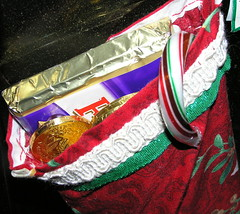 Candy in a stocking (Crfullmoon) Tags: 2005 december yuletime xmasstocking macro candy