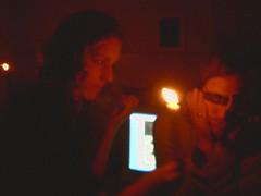 Medium C (ctanstfl) Tags: seattle friends red party people candle blind fremont blindness ctanstfl