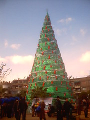 xmas tree- Damascus-Syria (Pharmacist.Mahairi) Tags: xmas christmas damascus clemency religions tree damascussyria          93  syriatell biggest happy