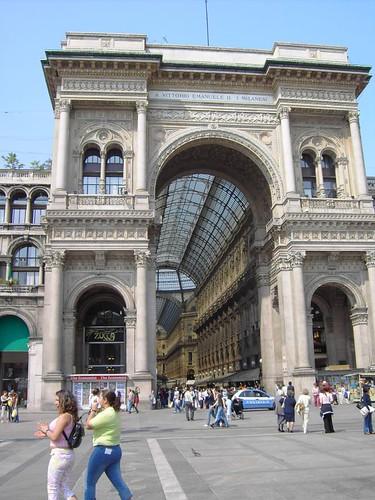 Milan. Galería Vittorio Emmanuelle II por Eirtaé.
