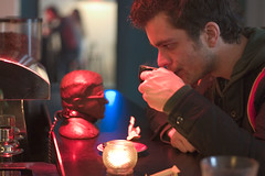 Jonas enjoying coffee (Rasmus Rasmussen) Tags: people 2005 bloggers friends mrkbar