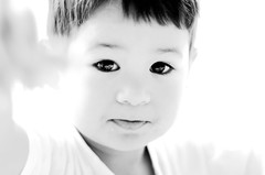 Son, showing me something (fd) Tags: family portrait bw topf25 backlight topv333 son 25 themecompetition tccomp001