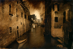 3am Venice (Kevissimo) Tags: venice italy night canal europe mixedmedia prayer tlpoedeleted kevinrolly oilgraphs