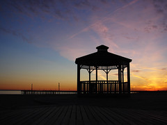 [2005] Coney Island (Diego3336) Tags: ocean nyc sunset sea sky usa ny newyork beach brooklyn night coneyisland island pier brighton gazebo clear boardwalk coney