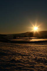 Sun and Snow (Davoud D.) Tags: friends sun snow rural sunrise shadows yorkshire crisp christmas2005 northyorkshire dales newyears2005 yorkshiredales wensleydale