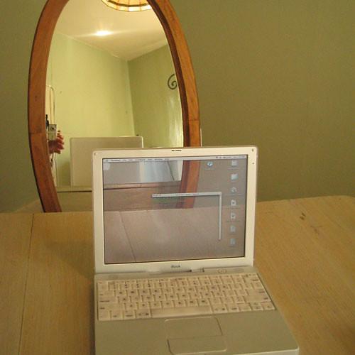 Transparent iBook in Mirror