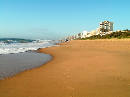 Umhlanga beach - looking south, Kwazulu Natal, South Africa