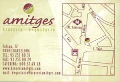 amitges rear (Sibarites.com) Tags: tarjeta visita sibarites sibarita restaurant bar cerveseria flyer