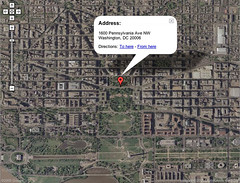 Google Maps, now with satellite imagery (jkottke) Tags: google googlemaps maps mapping satellite miserablefailure