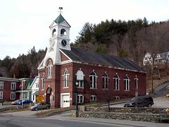 Bethel Clock Building - by Rick Scully