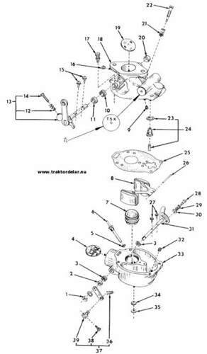 Marvel Schebler Carburetor:  Farmall 140