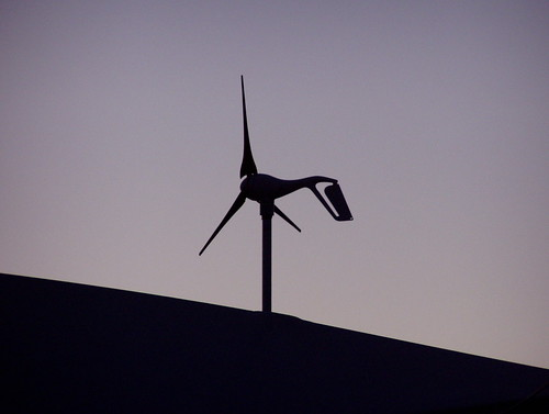 Small wind turbine @ sunset