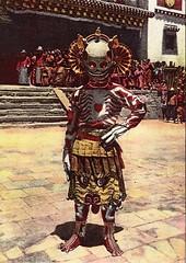 Skeleton dancer, Choni (jiulong) Tags: china buddhism monastery gansu choni