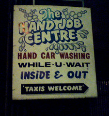 Hand Job Centre (Jo Angel) Tags: street sign handjob humour real car wash