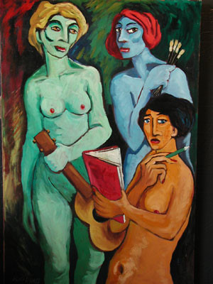 Sam Rigling Three Muses by trudeau