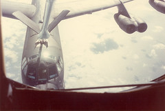 View from refueling plane
