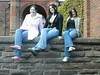Sexy on the wall (gracey baby) Tags: posing legs brick wall friends jeans keele staffordshire psfk mycooljeans england uk