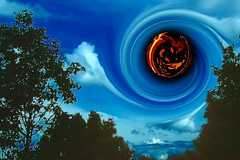 Apocalyps (smiling_da_vinci) Tags: apocalyps sky trees black hole digitalpainting 150v