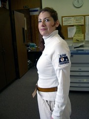 "Me as Maya from ""Space: 1999""—side view"