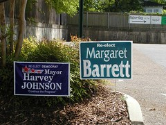 Campaign sign for Margaret Barrett by lordsutch on Flickr!