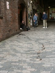 Post Alley Drain (LongView) Tags: seattle alley post market cobble pikes tess drains