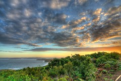 Marie Byles Lookout, Killcare (jæms) Tags: ocean sky clouds coast bush australia lookout explore nsw scrub hdr highdynamicrange photomatix killcare mariebyleslookout